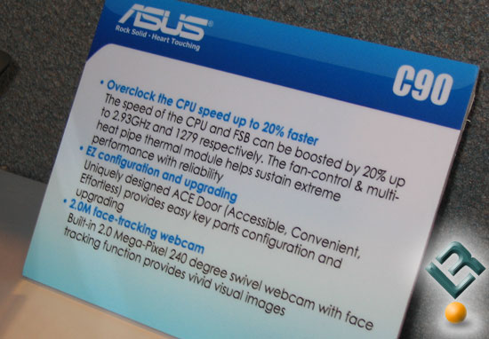 ASUS C90 Notebook Overclocking
