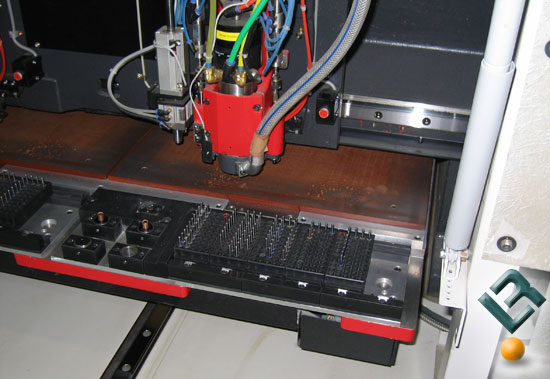 ECS Factory Tour on How To Make a Motherboard - Drilling