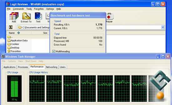 WinRAR on Eight Cores