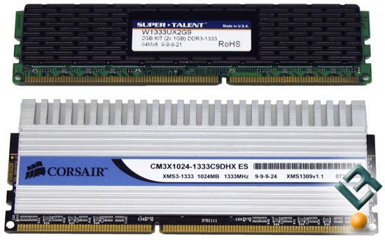 Cosair, Kingston, OCZ, Super Talent DDR3 1333MHz PC3-10666 Roundup