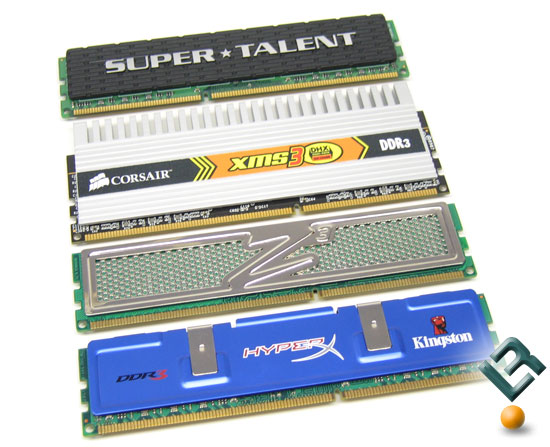 Cosair, Kingston, OCZ, Super Talent DDR3 1333MHz PC3-10666 Roundup Kits