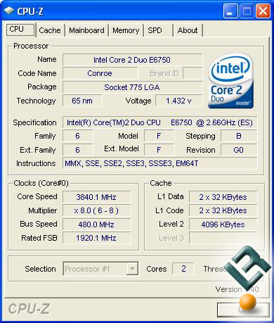 Overclocked QX6700 Results