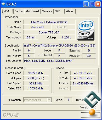 QX6850 Stock Speeds
