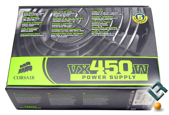 Corsair VX450W 450 Watt Power Supply Box