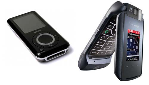 MP3 player and a smart phone