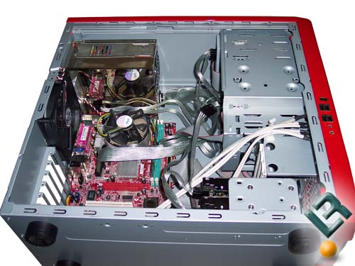 The open F430 case overall