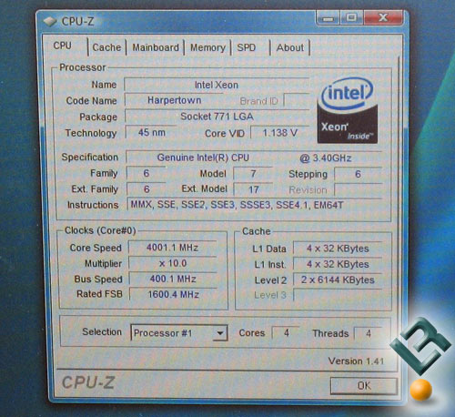 Intel Skulltrail 45nm Test System