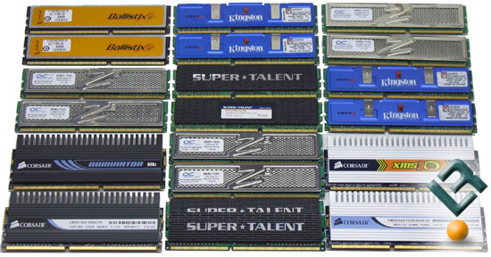 Various DDR3 Memory Kits