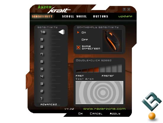 Razer Krait Control Panel