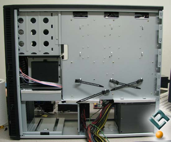 Back of the Antec P190 Motherboard tray