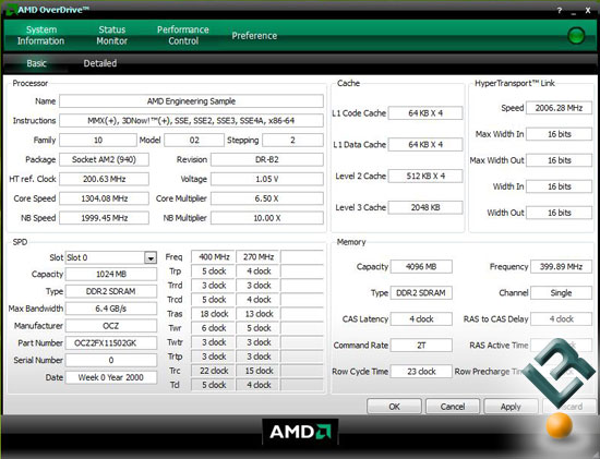 AMD OverDrive with a Phenom 9900 Processor