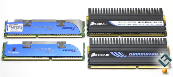Corsair and Kingston DDR3 1800MHz Memory Kits
