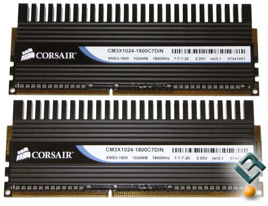 Corsair 1800MHz DDR3 Intel XMP