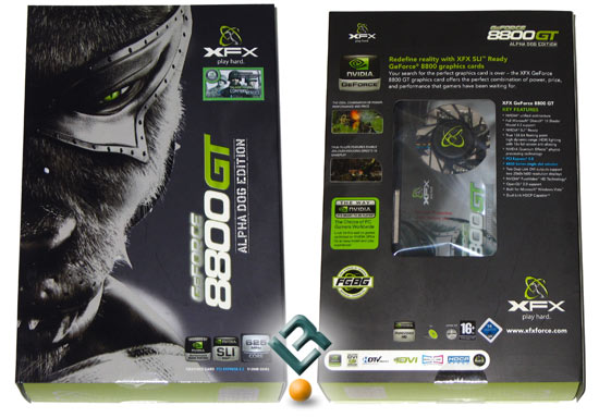 XFX GeForce 8800 GT Alpha Dog Video Card Retail Box