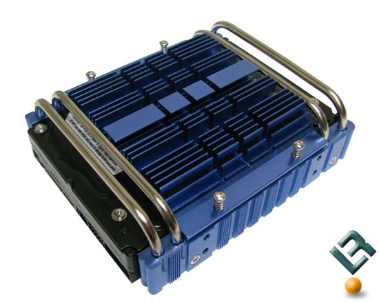 The Ultra Aluminum Hard drive cooler with heatpipes