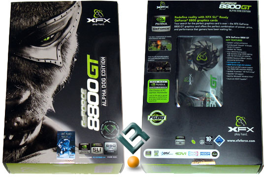 XFX GeForce 8800 GT 256MB Alpha Dog Video Card Retail Box