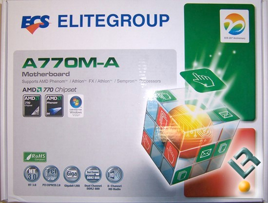 ECS A770M-A Motherboard Review Box
