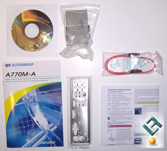ECS A770M-A Motherboard Review Box Contents