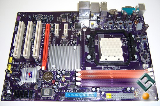 ECS A770M-A Motherboard Review full board