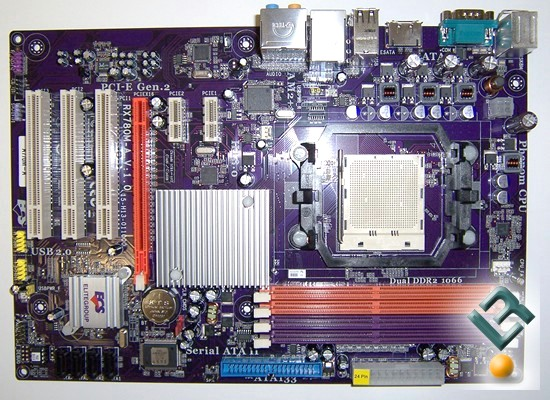 ECS A770M-A Motherboard Review Overhead view