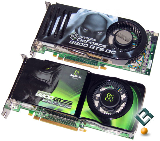 The Original BFG Tech GeForce 8800 GTS 640MB OC Video Card Is Pictured Above New XFX 512MB XXX Edition Graphics