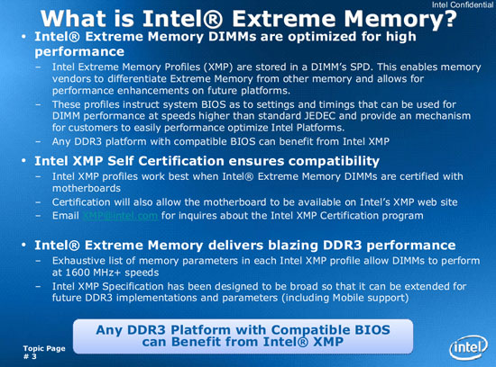 Introduction to Intel XMP DDR3 Memory Overclocking