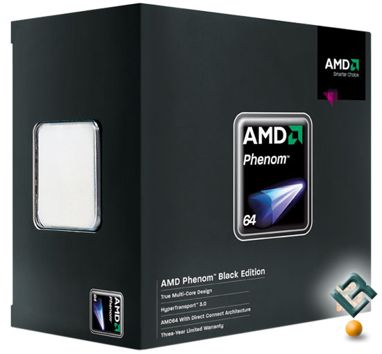 The AMD Phenom 9600 Black Edition Retail Box