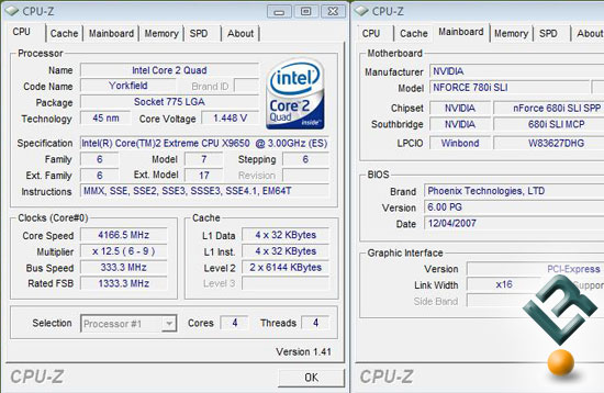 Intel QX9650 Overclocking on 780i