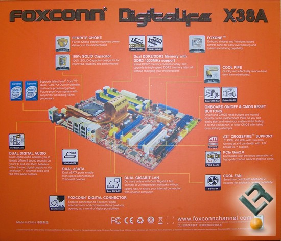 Foxconn X38A Motherboard Review boxback