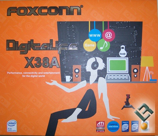 Foxconn X38A Motherboard Review boxfront