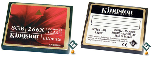 Kingston Compact Flash 8GB Ultimate Memory Card