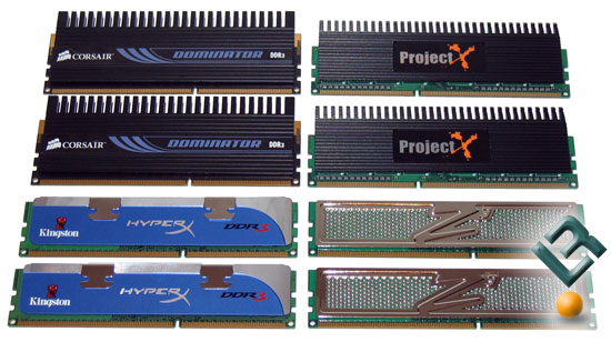Corsair, Kingston, OCZ and Super Talent 2GB DDR3 1800MHz Memory Kit Review
