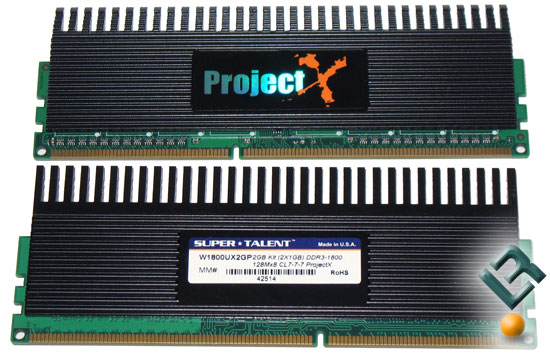 Super Talent ProjectX 1800MHz DDR3 Memory Kit