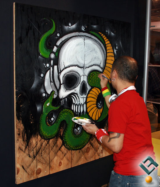 At work on Skullcandy art