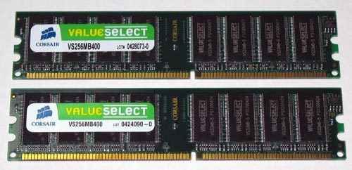 Corsair PC-3200 Value Select Memory