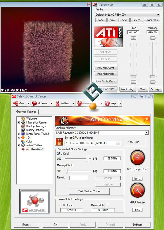 ATI Radeon HD 3650 Load Temperatures