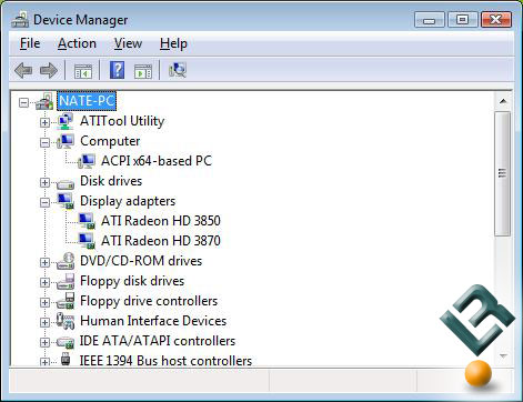 ATI Radeon HD 3870 and Radeon HD 3850 in Device Manager
