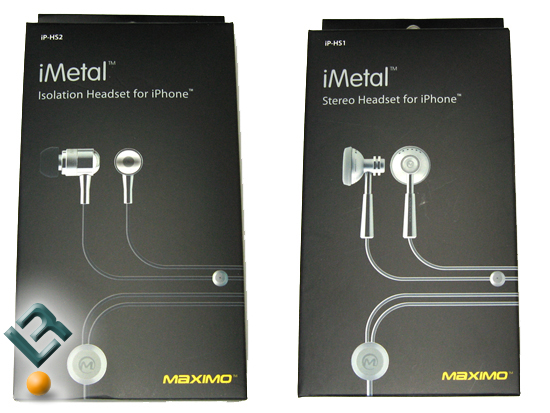 Maximo iMetal iPhone Headsets