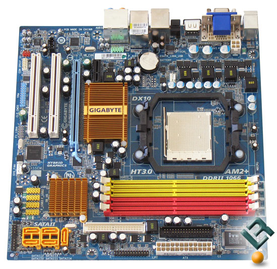 Gigabyte GA-MA78GM-S2H motherboard top