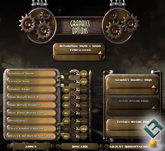 BioShock Benchmark Settings