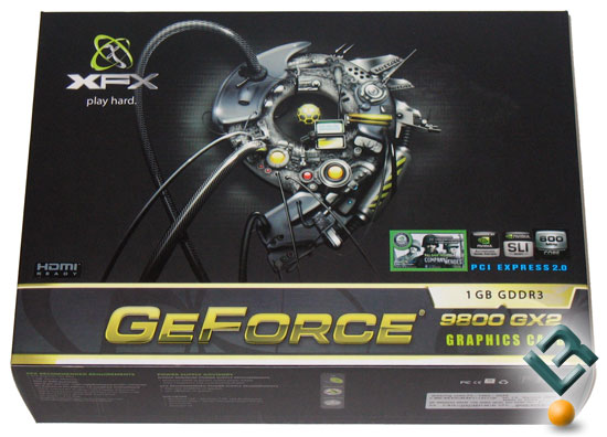 XFX GeForce 9800 GX2 Video Card Retail Box
