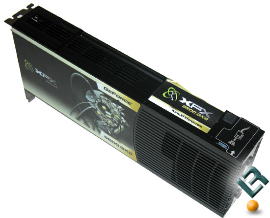 XFX GeForce 9800 GX2 Front Side
