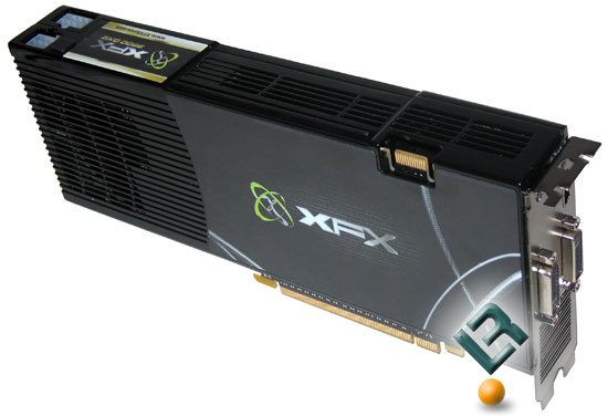 XFX GeForce 9800 GX2 Back Side
