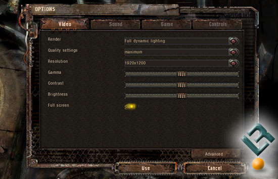 S.T.A.L.K.E.R. Benchmark Settings
