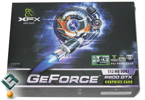 XFX GeForce 9800 GTX Video Card Retail Box
