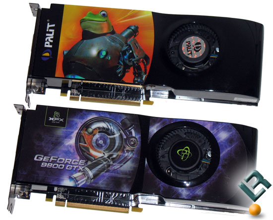 Palit and XFX GeForce 9800 GTX Video Cards