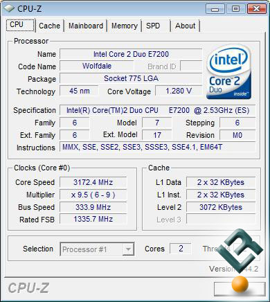 Intel Core 2 Duo E7200 Processor Overclocking