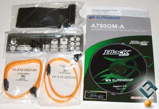 ECS A780GM-A motherboard top