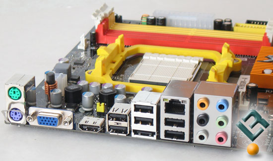 ECS A780GM-A motherboard rear I/O panel
