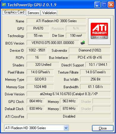 Diamond Radeon HD 3870 1GB